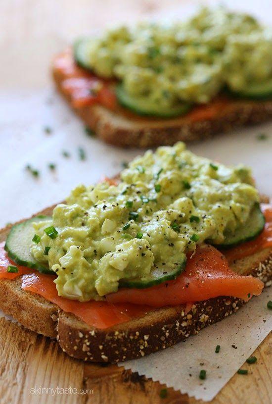 Avocado egg salad, Smoked salmon and Eggs on Pinterest