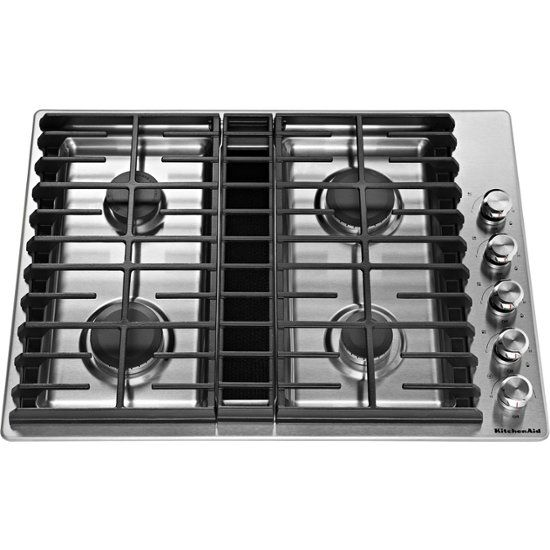 Kitchenaid 30 Gas Cooktop Stainless Steel Front Zoom Downdraft Cooktop Gas Cooktop Stainless Steel Cooktop
