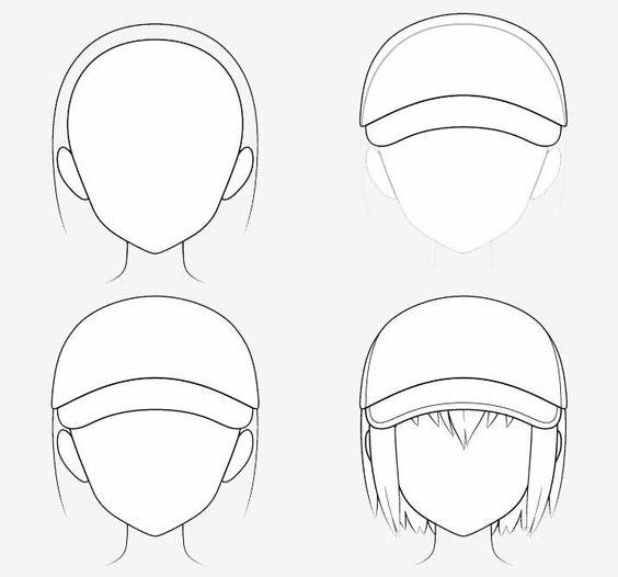 Từng bước vẽ nón bóng chày anime