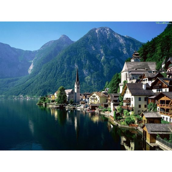 Hallstatt......i remember waking up to the smell of bacon here!