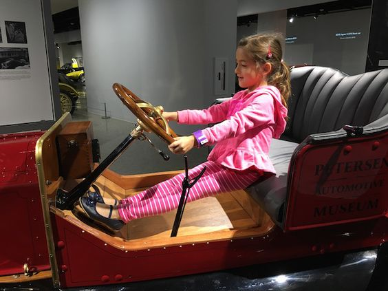 """If you've been counting the days since the Petersen Museum closed (14 months ago), it has finally re-opened and is better than ever!  Race over with your little back seat driver to check out the car (and """"Cars"""") filled renovation."""
