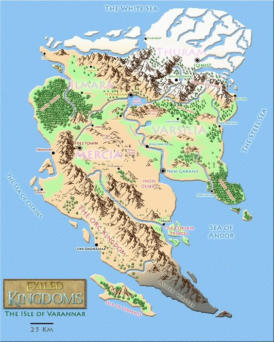 Today,I played Exiled Kingdoms on my phone and really liked it!This is the map of the game's land.