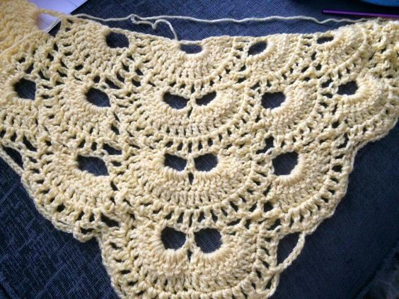 Free Crochet Pattern For A Virus Shawl : Pinterest The world s catalog of ideas