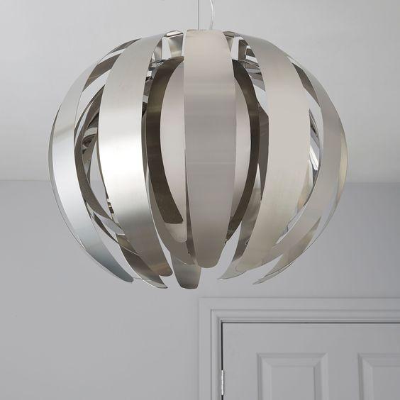 Bu0026q Ceiling Lights Uk Acrux Chrome Effect Pendant Ceiling Light   Departments  DIY at