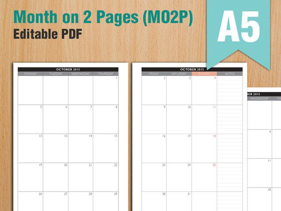 ... Printables 02/16 to 03/17 Month on 2 Page   Planners, Calendars
