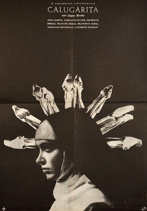 Romanian poster for LA RELIGIEUSE (Jacques Rivette, France, 1966) Designer: unknown