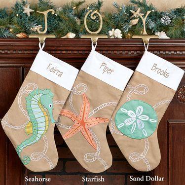 Christmas Ashore Sand Dollar Christmas Stocking