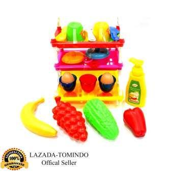 Tomindo Toys Mainan Dapur Rak Piring Mainan Anak Masak Masakan Kitchen Set Dt7050 Mainan Anak Mainan Anak