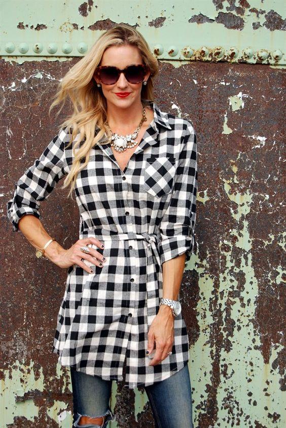 Buffalo Plaid Tunic Dress | Jane