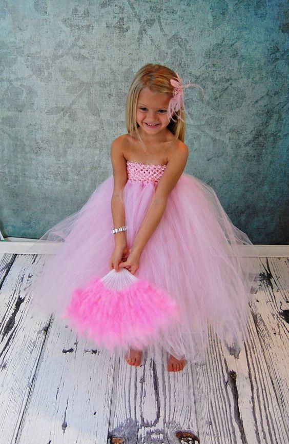 Free Shipping to US Pink Flower Girl Tutu Dress by PoshPixieTutu, $65.00