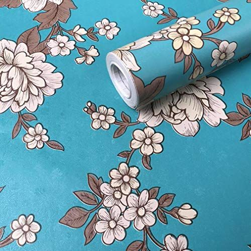17 7 X118 Floral Wallpaper Blue Vintage Peony Peel And Stick Wallpaper Floral Contact Paper Self Adhe Floral Wallpaper Royal Wallpaper Modern Floral Wallpaper