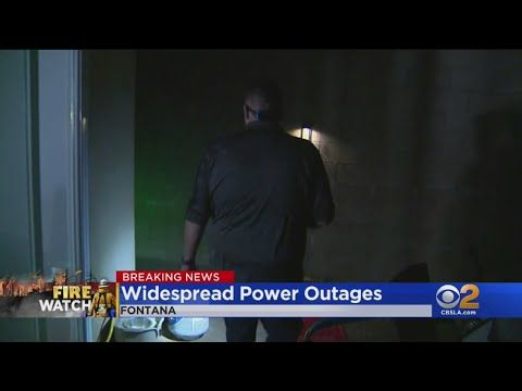 Thousands Without Power Across Southland As Santa Ana Wind Gusts Intensify Youtube Wind Gust Southland San Bernardino County