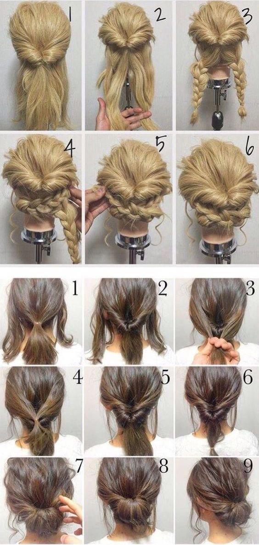 Einfache Frisuren Fur Langes Dunnes Haar Einfache Frisuren Haar Styling Haarstyling Niedliche Frisuren