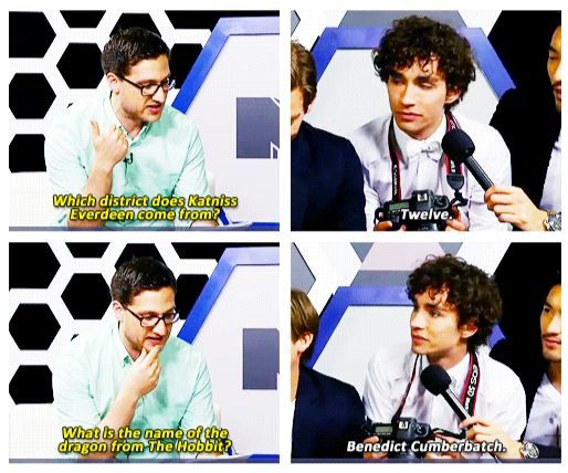 Well played Robert Sheehan, well played...