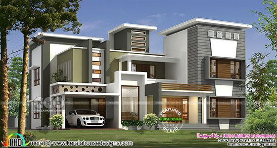 New Modern Contemporary Style 5 Bedroom House Kerala House Design Modern House Plans Contemporary House Plans