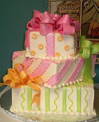 #cake Stack-of-presents cake