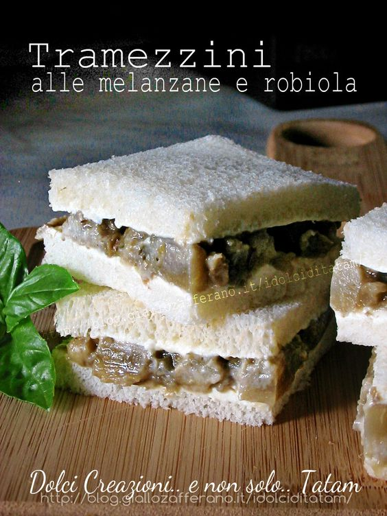 Tramezzini alle melanzane e robiola | ricetta finger food