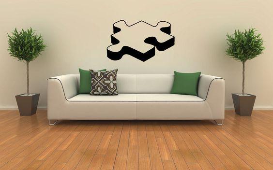 PIECE OF PUZZLE CUTE WALL VINYL STICKER  DECALS ART MURAL HOME ROOM DECOR T435 #MuralArtDecals