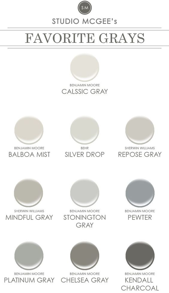 ask studio mcgee gray paint pewter balboa mist and. Black Bedroom Furniture Sets. Home Design Ideas