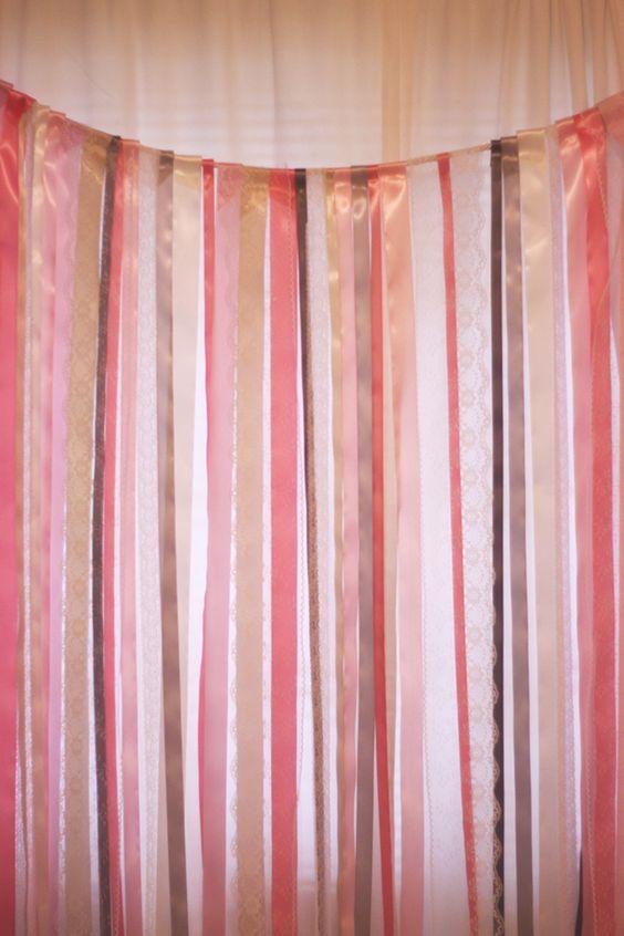 {DIY} Ribbon + Lace Backdrop Tutorial