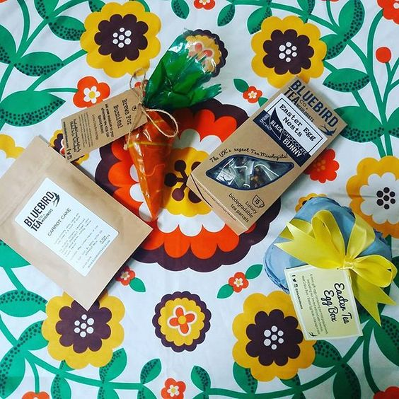 How much fun is this Easter bundle from @bluebirdteaco?! 🐰🐇🐥🐤🐣 Thanks, guys! #tea #easter: