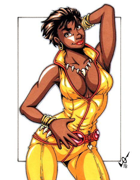 female character Big comic book