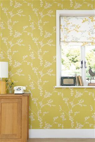Buy elissa ochre wallpaper sample from the next uk online for Wallpaper next home