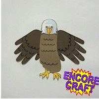 HAND AND FOOTPRINT EAGLE: Great project to make kids aware of the American Eagle.