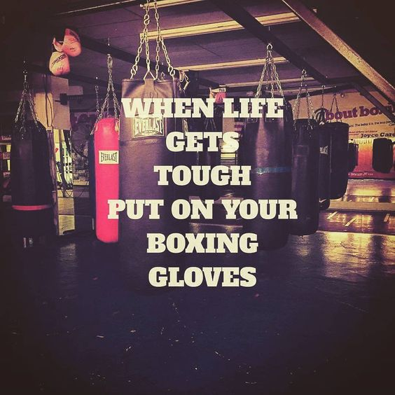 This is my motto! Love boxing and punching out my stress!