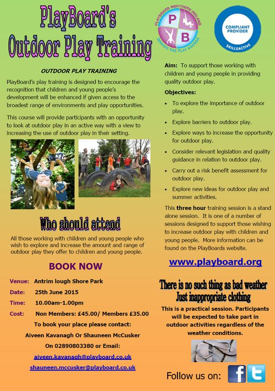 PlayBoard's Outdoor Play Training