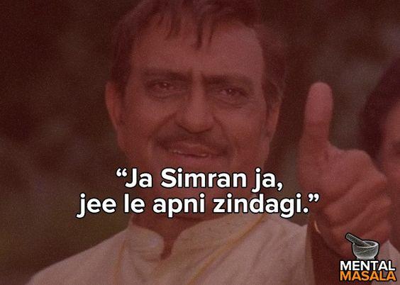 Image result for jaa simran jee le apni zindagi translation