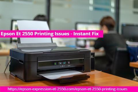 Epson Et 2550 Printing Issues Instant Fix Wireless Printer Printer Epson