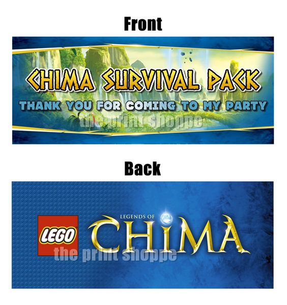 Legends of chima goodie bag toppers chima party favors gift bag