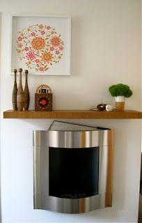 Spring inspired fireplace vignette