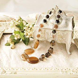 Mix brown costume necklace | 14,800yen