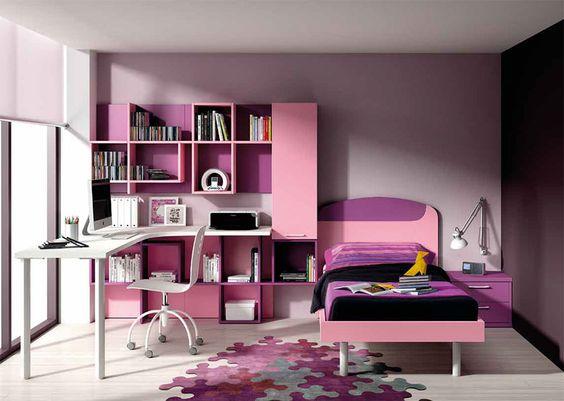 chambre enfant complte contemporaine eglantine coloris mauve rose et blanc - Chambre Rose Et Violet