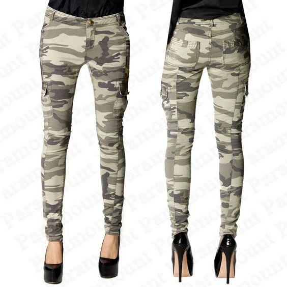 camo womens skinny jeans - Jean Yu Beauty