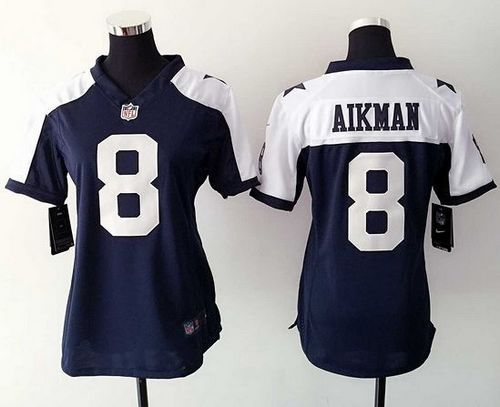 womens dallas cowboys jersey 8 troy aikman white road nfl nike game jerseys 2016 new nfl
