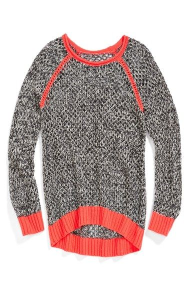 Tucker + Tate 'Lucia' Raglan Sleeve Sweater (Little Girls & Big Girls) available at #Nordstrom