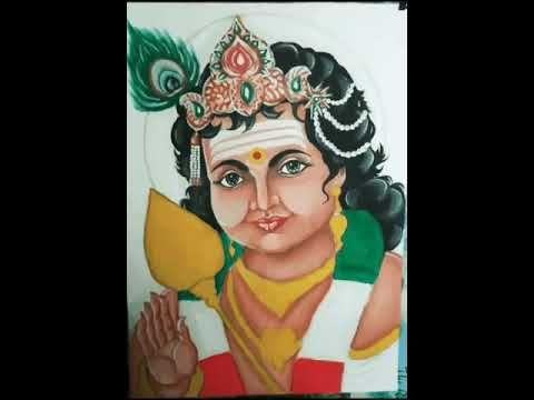 Its An Oil Painting Of Lord Murugan Hindu God Oil