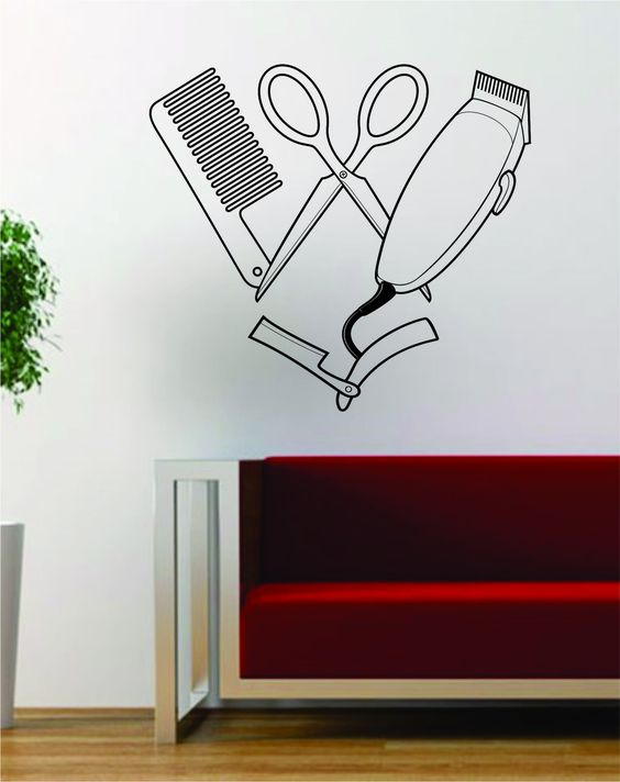 Barber Clippers Wall Vinyl And Barbers On Pinterest