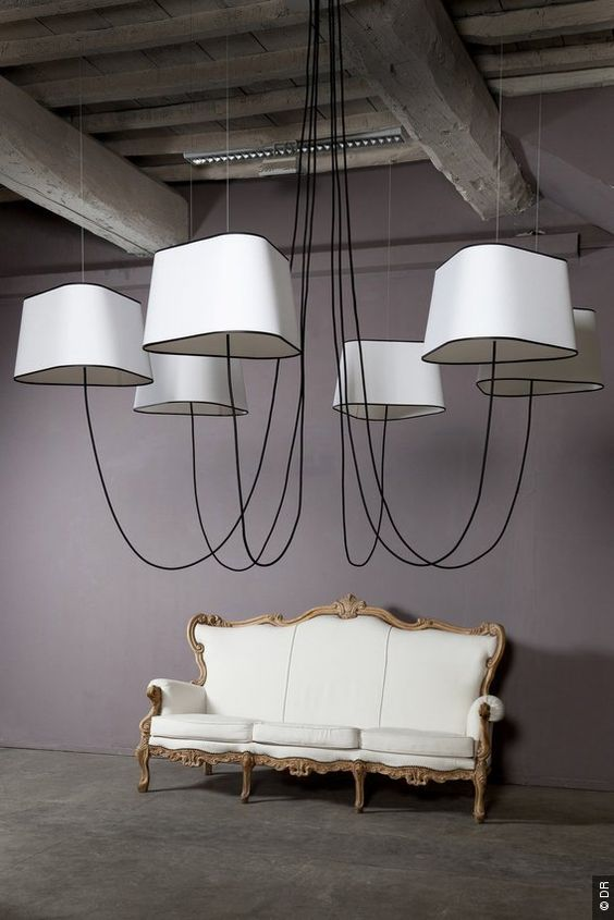 lustre nuage design heure d coration pinterest lampadaires design et tout. Black Bedroom Furniture Sets. Home Design Ideas