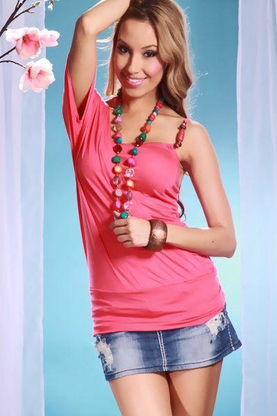 CORAL KNIT ASYMMETRICAL LAYERED BEADED BANDED BOTTOM TUNIC TOP @ Amiclubwear Top Shirt Clothing Online Store: Dress Shirt,Sexy Womens Shirt,T Shirts,Corset Dress,White T Shirt,Girl T Shirt,Short sleeve top,Sexy Shirts,Hawaiian Shirts,Cute Tops,hawaiian al