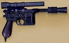 Mauser Broomhandle pistol tricked out into Han Solo Blaster