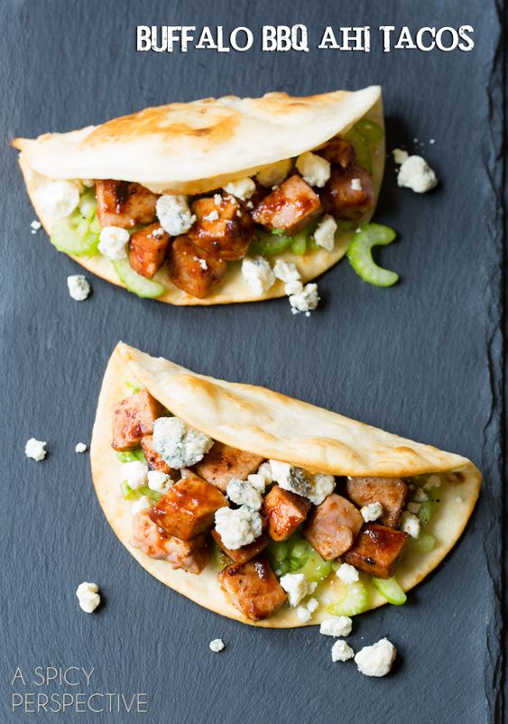 Fish tacos recipe goat cheese celery and perspective for Tuna fish tacos