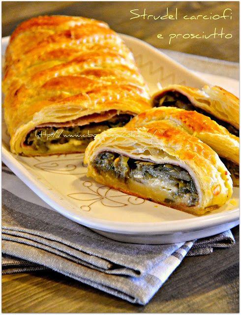 CIBO VINO E PAROLE ...: Strudel carciofi e prosciutto- Artichoke and ham strudel Click for English version.