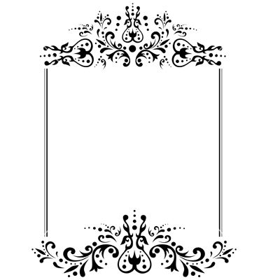 vintage wedding invitations victorian frames vector pesquisa google