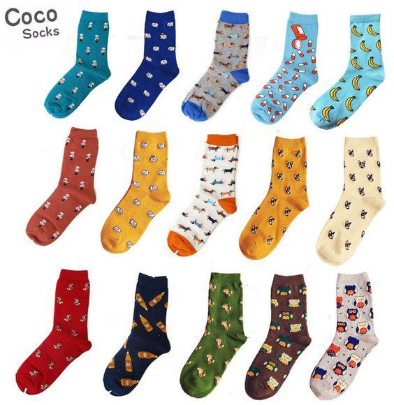 Happy Socks Men's Casual Dress Socks Multi-Color Hosiery