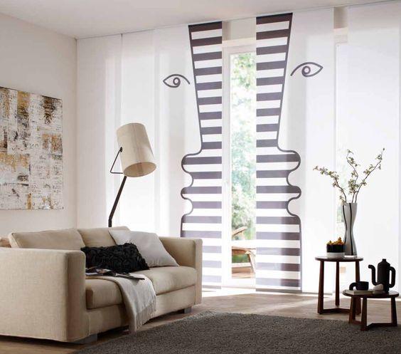 "Exklusive Flächenvorhang Kollektion ""art Edition Alla GrAnde"" by Teba GmbH & Co. KG_DIALOG"