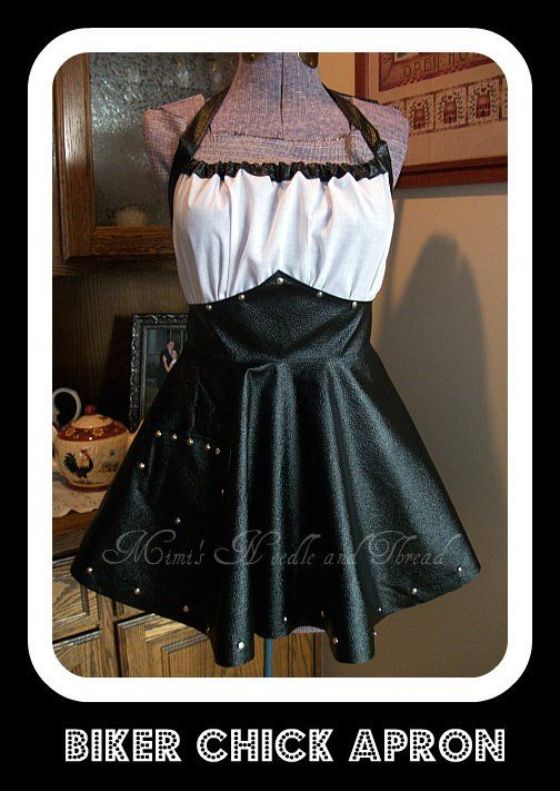 Biker Chick Apron.  This is SOOO ME!!!